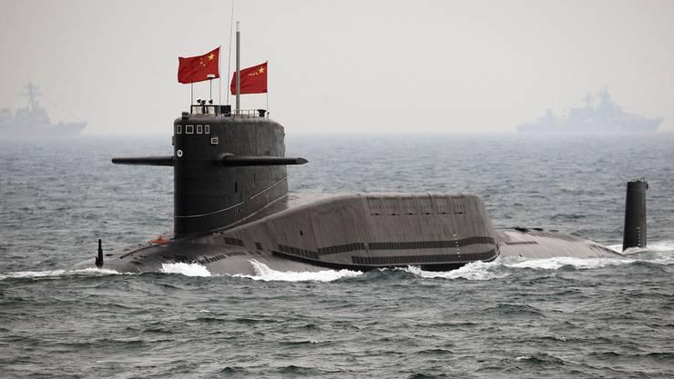 Chinesisches U-Boot bei einer Übung. (Archiv)