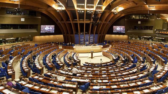 Blick in den Europarat in Strassburg (Archiv)