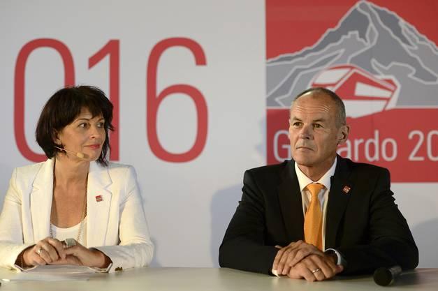 Bundesrätin Doris Leuthard und Neat-CEO Renzo Simoni