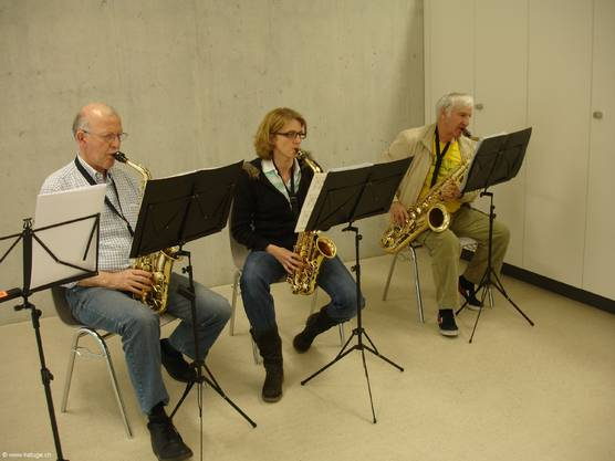 Die Saxophone in der Registerprobe