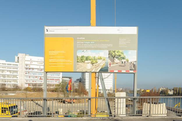 Endspurt bei den Bauarbeiten an der Rheinuferpromenade.