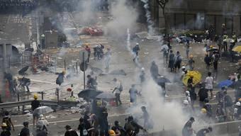 Die Proteste in Hongkong verliefen nicht nur friedlich.