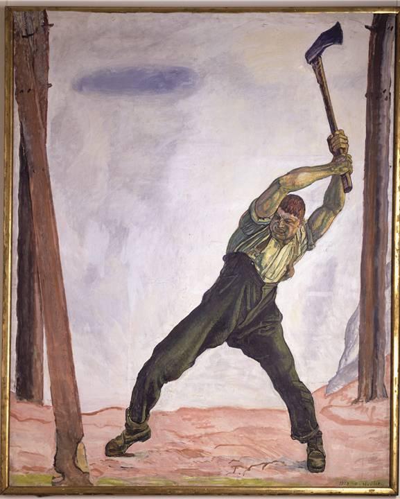 «Der Holzfäller» machte Hodler nicht nur als Banknoten-Motiv populär. Bis heute vereinnahmen Politiker von links bis rechts das Bild. Hodler schuf diverse Fassungen, das brachte Geld.