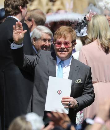 Sir Elton John sang auf Wunsch von Prinz Harry an der Feier.
