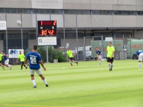 Hier noch das 1 : 2 / FC Frenkendorf schoss 1 Tor in der 30. Minute