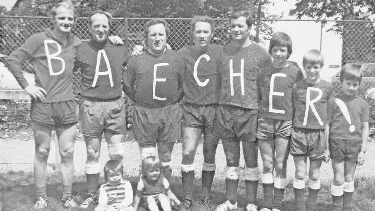 Die «Bächer-Brothers» am Grümpelturnier 1947. Willy Bächer ist der zweite von links.