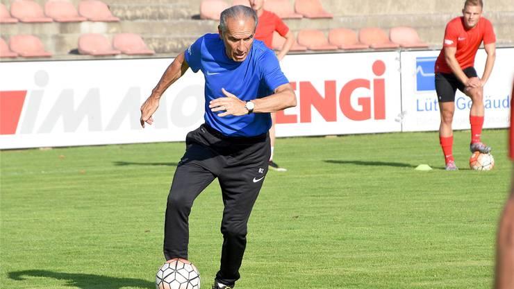 Der 64-jährige Hans-Peter «Bidu» Zaugg ist seit Dezember 2015 Trainer beim Erstligisten FC Solothurn. ZVG