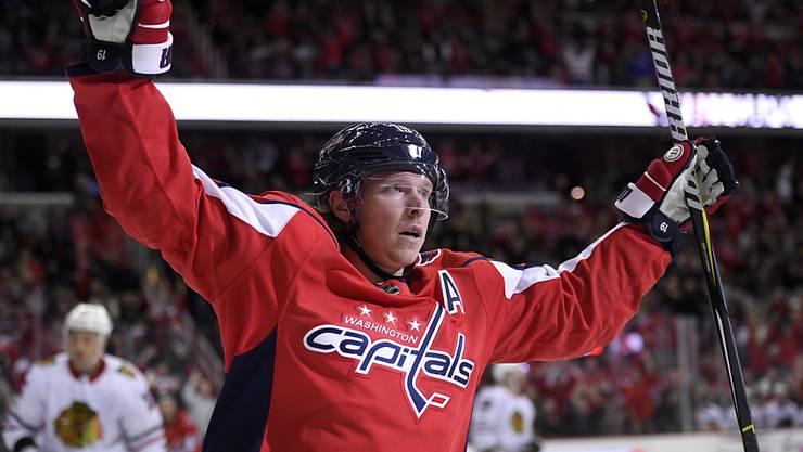 Nicklas Backström von den Washington Capitals beendete mit seinem Treffer eine Durststrecke von 21 NHL-Partien