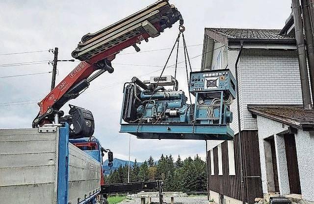 Der alte Notstromgenerator stand während über 35 Jahren im Brugger Ferienhaus Salomonstempel in Hemberg im Einsatz und wurde im August verschenkt.