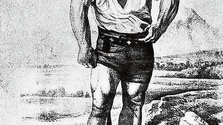 Schwinger oder Sagengestalt? Matthis Witter, genannt «der starke Thys», eine Figur aus der Mitte des 19. Jahrhunderts.