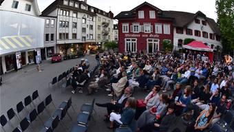 Das Openair-Kino in der Kirchgasse wurde gut besucht.
