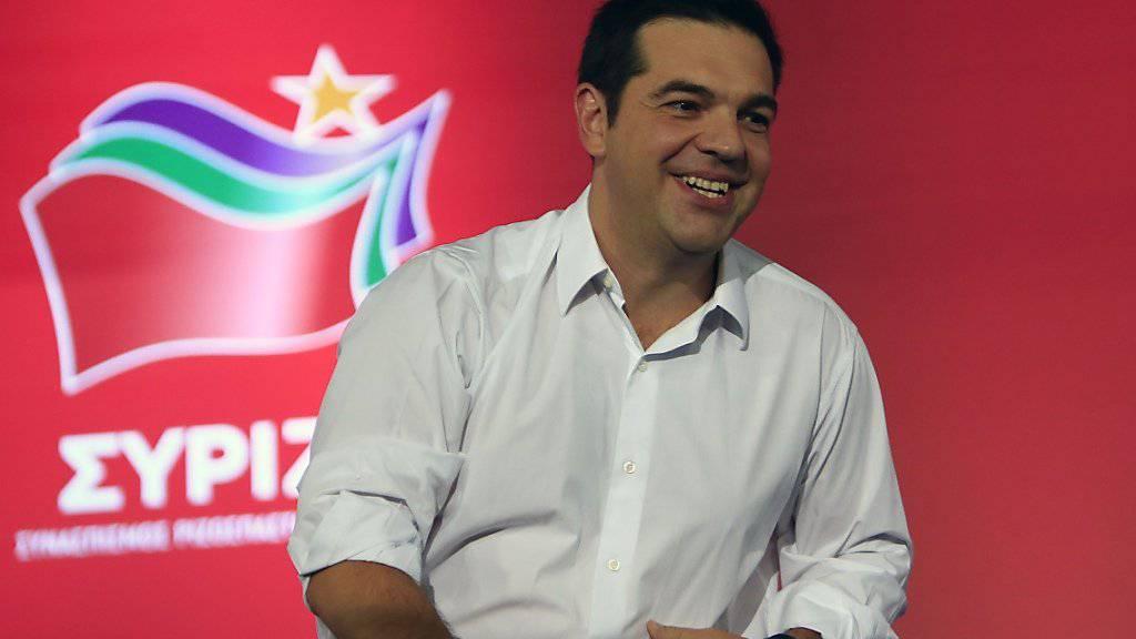 """Tsipras gibt sich optimistisch: Bei seinem letzten grossen Auftritt vor der Wahl am Sonntag schickt er eine """"Nachricht des Sieges""""."""