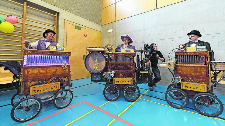 Die Orchester-Drehorgeln synchronisieren sich per Funksignal. (Archivbild)