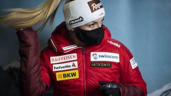 Lara Gut-Behrami schützt sich in der Öffentlichkeit durchwegs mit Maske