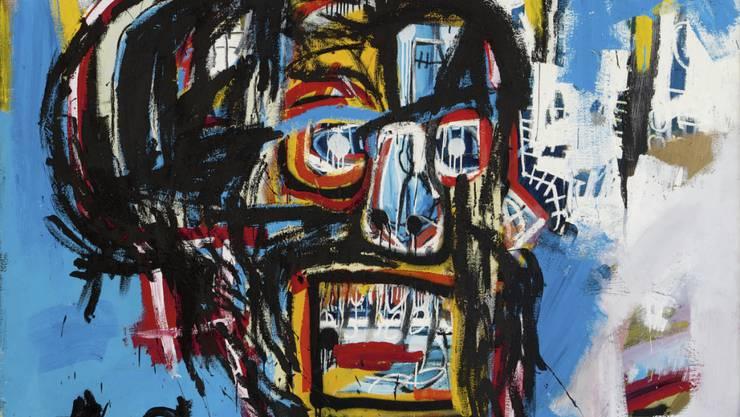 """Jean-Michel Basquiats Kunstwerk """"Untitled"""" war einem Bieter 110 Millionen Dollar wert."""