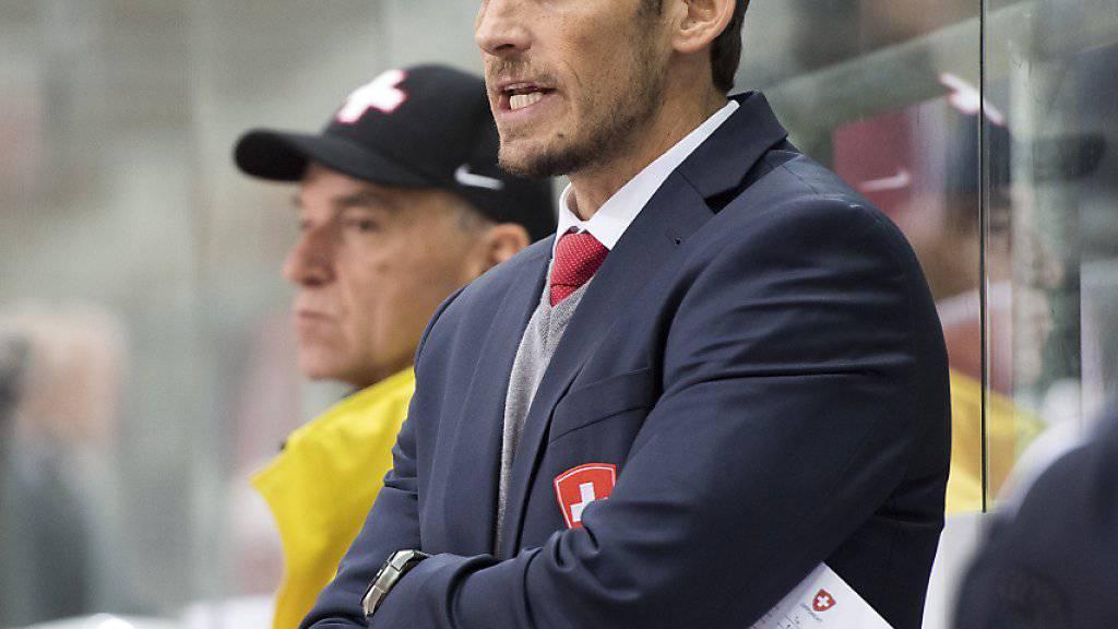 Headcoach Patrick Fischer testet vor der WM mit den Schweizern vor eigenem Publikum vorab in der Romandie