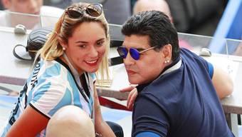 Diego Maradona im Element