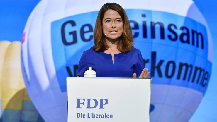 Für FDP-Präsidentin Petra Gössi war der Wahltag enttäuschend - auch wenn die Verluste weniger gross ausfielen als bei SP und SVP