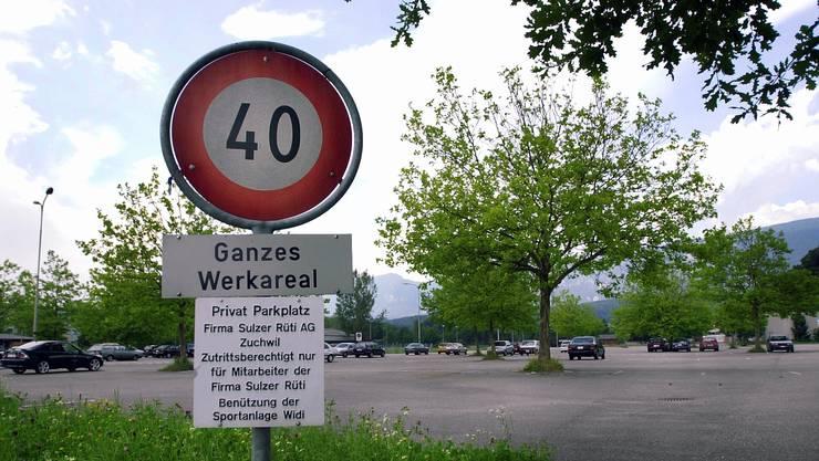 Auf dem Sulzer-Parkplatz kam es zum Unfall. (Archiv)