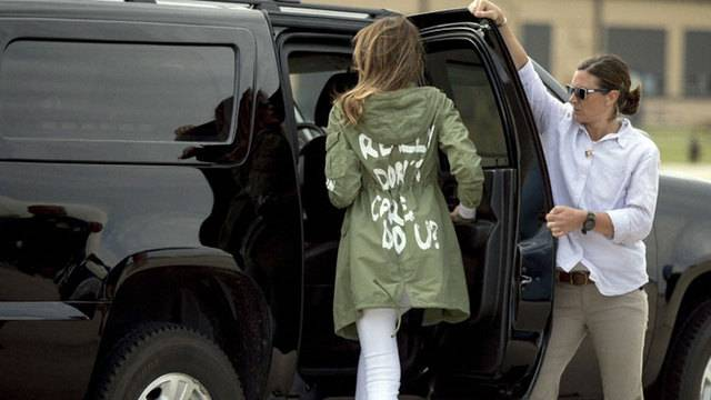 Kinderheimbesuch: Melania Trump verwirrt mit «I really don't care»-Jacke