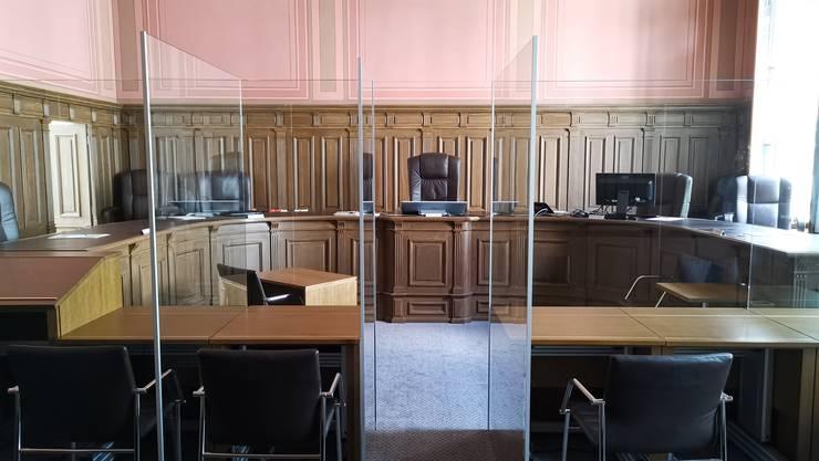 Ein seltener Einblick: Die Gerichte gewährten den Medienschaffenden einen Blick in die umgerüsteten Gerichtssäle.