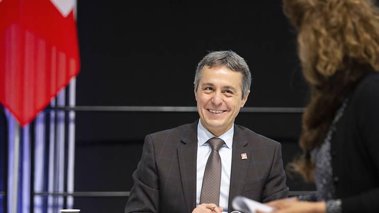 Bundesrat Ignazio Cassis ist optimistisch, dass die Schweiz ihre Grenzen mit den Nachbarstaaten bald wieder öffnen kann. (Archivbild)