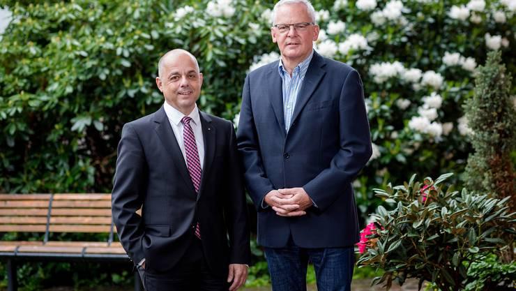 Einen schmutzigen Wahlkampf werde es nicht geben, betonen die Kandidaten Markus Hoppler (CVP) und Chris Linder (FDP)