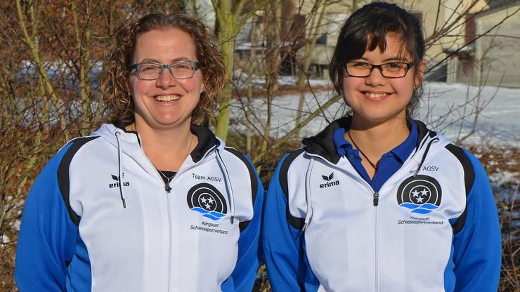 Die besten Aargauer Gewehrschützinnen bei der Elite: Sandra Mäder (links) und Darunee Frossard.