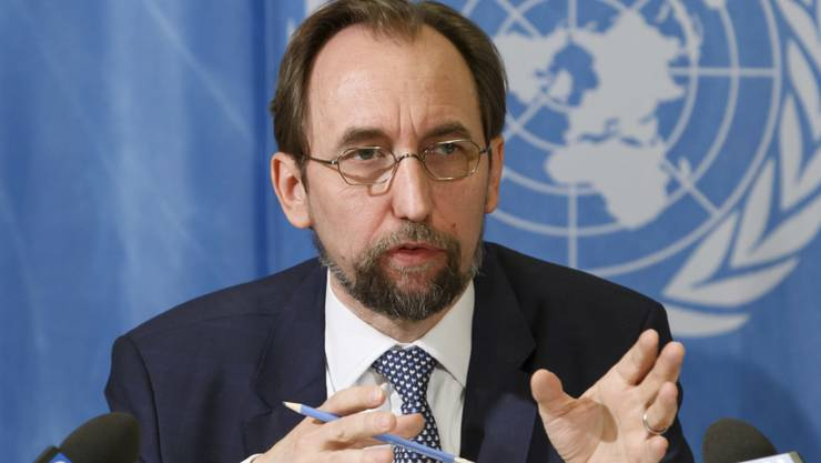 Der UNO-Hochkommissar für Menschenrechte, Said Raad al-Hussein, sorgt sich, dass angesichts des Kampfes gegen den Terrorismus die Menschenrechte untergraben werden könnten. (Archiv)