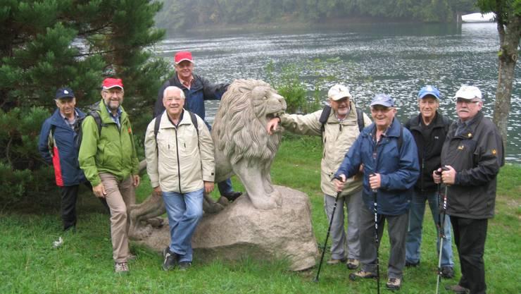Imposantes Löwendenkmal