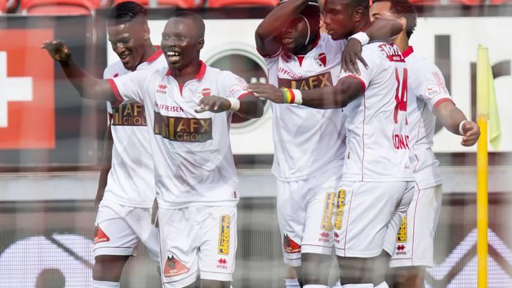 Die Spieler des FC Sion durften gegen die Grasshoppers über vier Tore jubeln