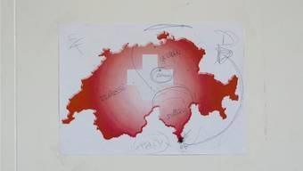 Schild an der Schweizer Grenze, Chiasso, 2015, aus der Serie «How to Secure a Country».