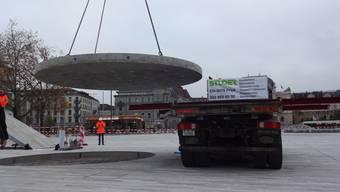 Das Wasserspiel für den neugestalteten Sechseläutenplatz ist eine grosse Herausforderung für die K. Studer AG aus Frick.