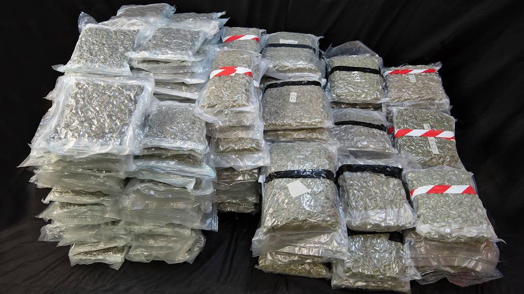 Marihuana im Wert von über einer Million Franken beschlagnahmt