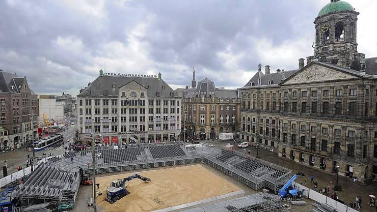 Einer der vier Schauplätze der Beachvolleyball-WM: Amsterdam