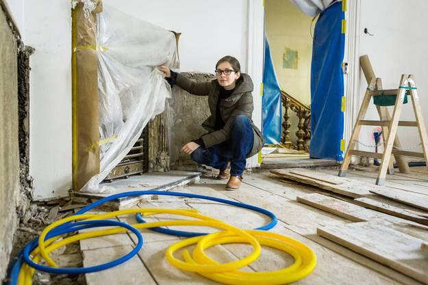 Projektleiterin Dominique Wyttenbach hat der az die Tür zur Villa geöffnet.