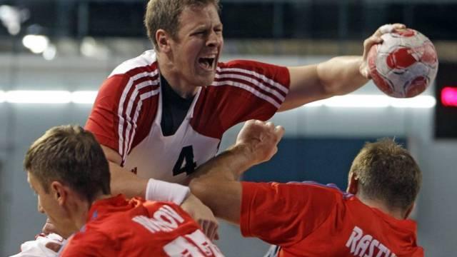 Der Schweizer Marco Kurth erzielte gegen Russland drei Tore