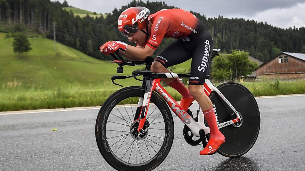 Marc Hirschi belegte im WM-Zeitfahren der U23-Kategorie mit fast zwei Minuten Rückstand den 13. Rang
