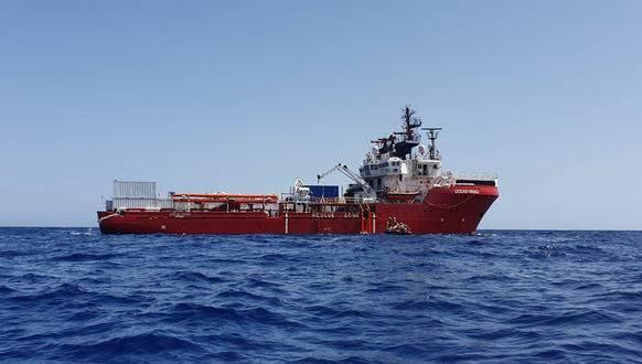 Das Rettungsschiff Ocean Viking.