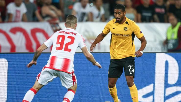«Ich freue mich extrem darauf» - trotz Aussenseiterrolle kann YB-Spieler Saidy Janko das Duell gegen den FC Porto kaum erwarten.