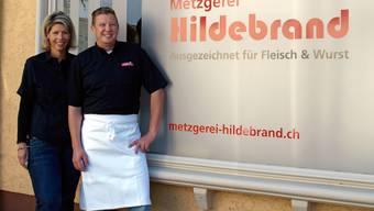 Sie haben allen Grund zum Strahlen: Sandra und Othmar Gut werden mit der Metzgerei Hildebrand einen Familienbetrieb übernehmen.