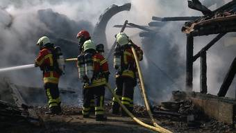 Bilder von den Löscharbeiten sowie Einschätzungen von Polizei und Feuerwehr.
