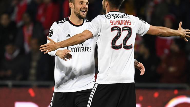 Haris Seferovic freut sich über seinen nächsten Treffer im Trikot von Benfica Lissabon