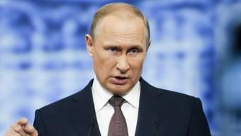 Wladimir Putin in gewohnter Manier. (Archivbild)