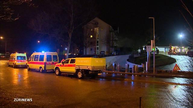 60 Personen nach Tiefgaragenbrand evakuiert