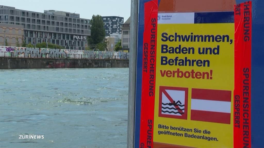 Böötler und Schwimmer in Zürich leben gefährlich