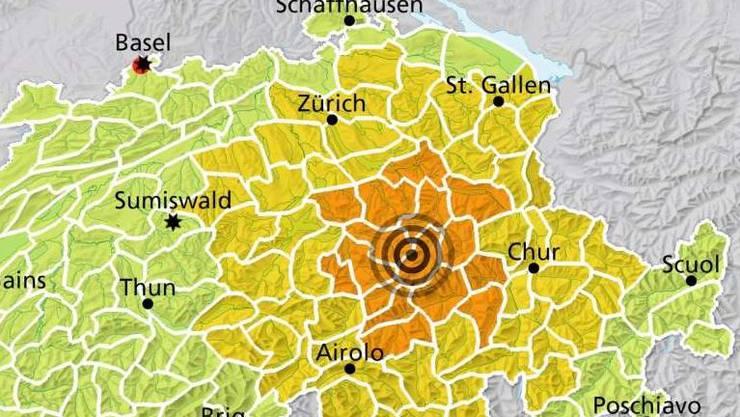 Erdbeben in Ortstock SZ