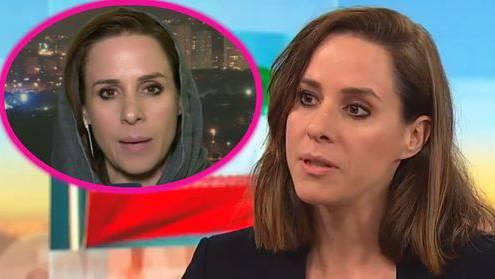 ARD-Korrespondentin Natalie Amiri trägt ein Kopftuch