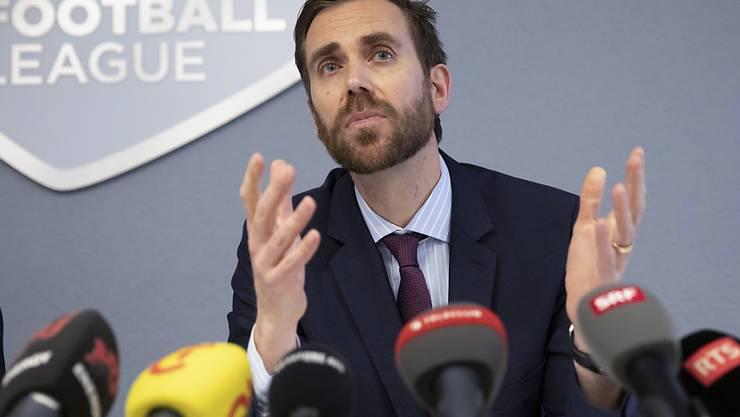 Claudius Schaefer, CEO der Swiss Football League (SFL), hofft auf einen Meisterschafts-Wiederbeginn im Juni