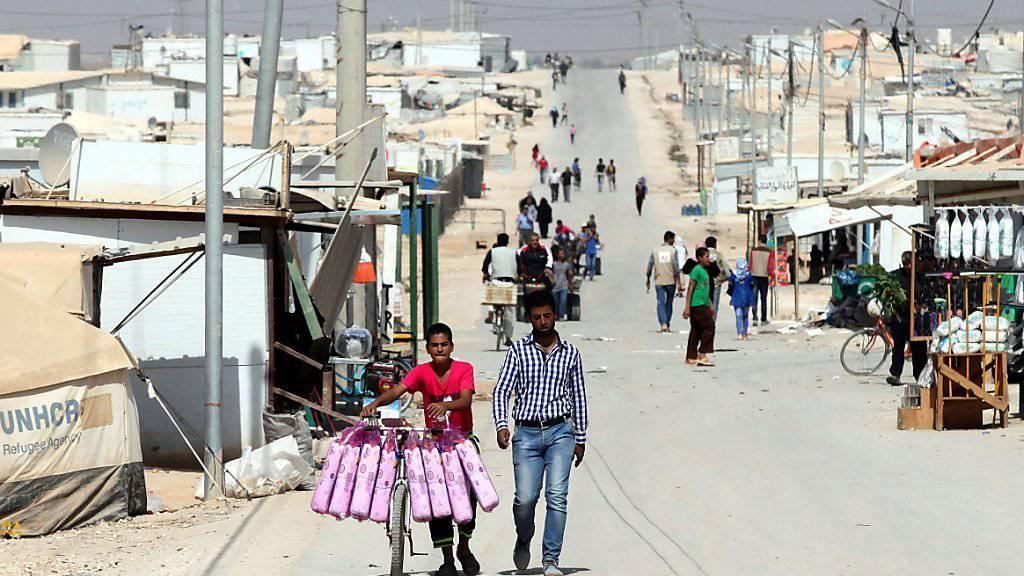Asyl in Kanada: Syrische Flüchtlinge in einem Lager in Jordanien